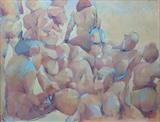 Argeles plage by Paul Williams, Painting, Oil on Paper