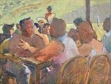 Beach Restaurant I by Paul Williams, Painting, Oil on Paper
