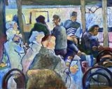 Cafe Boheme by Paul Williams, Painting, Oil on Wood