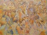 Dancing at La Fringale 1 by Paul Williams, Painting, Oil on Paper