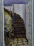 Downstairs by Paul Williams, Painting, Oil on Board