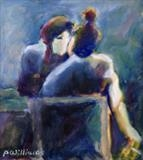 Polite smoking by Paul Williams, Painting, Oil on Paper