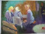 Pub garden III by Paul Williams, Painting