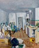 Temporary accommodation by Paul Williams, Painting, Oil on Board