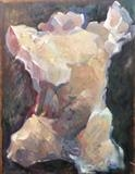 Torso from the Gates of Hell (after Rodin) (front view) by Paul Williams, Painting, Oil on Wood